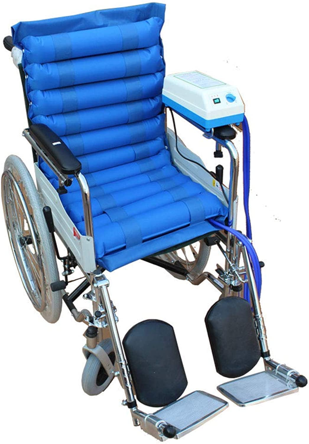 Medical Air Inflatable Seat Cushion with Pump System, Wheelchair Air Alternating Pad Overlay