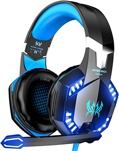 VersionTECH. G2000 Gaming Headset, Surround Stereo Gaming Headphones with Noise Cancelling Mic, LED Lights & Soft Mem...