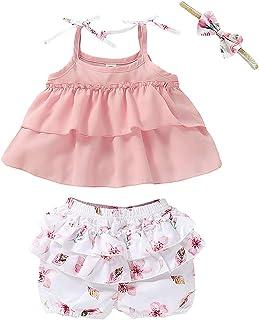 Halloween Baby Girl Clothes, Thanksgiving Toddler Girl Outfit Ruffle Top+Pumpkin Print Skirt Sets+Headband