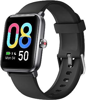 Smartwatch, Reloj Inteligente para Hombres y Mujeres con Oxígeno en Sangre,1,55 '' Pantalla Color de Gran tamaño,IP68 Pulsera Actividad Inteligente con podómetro,Reloj con GPS para Android iOS
