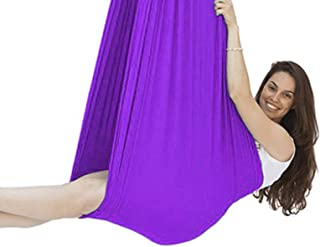Indoor Swings 360° Swivel for Autistic Kids Cuddle Hammock Adjustable Aerial Yoga Snuggle Children with Autism ADHD and As...