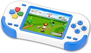 TEBIYOU Handheld Game Console for Kids Portable Video Game Player with Built in 16 Bit 220 HD Classic Games 3.0'' Large Screen Electronic Handheld Games for Seniors Adults Children Birthday (Blue)