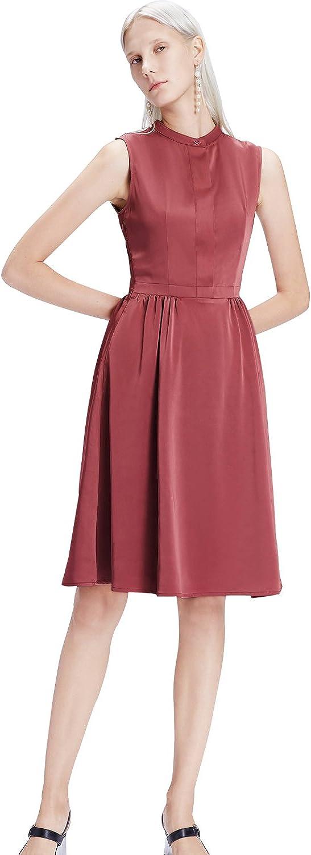 My Bun Summer Slim Fit Casual Womens Vintage Sleeveless Empire Waist Knee Length Loose Aline Dresses