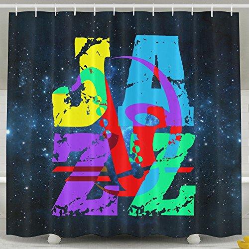 HUANGLING Cool en Hip Jazz douchegordijn 60x72inch
