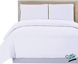 DHestia Hostelería - Funda Nórdica para Edredón Blanca Hotel 100% Algodón Natural (190x240 cm - Cama 105)