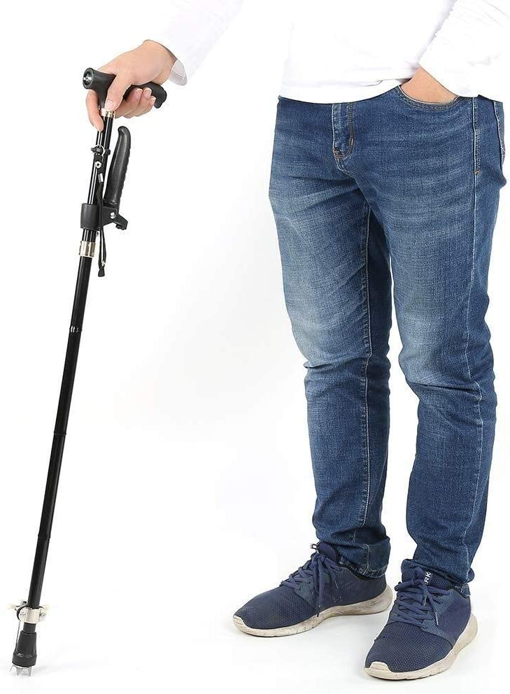LIMEI-ZEN Industry No. 1 Walking Stick Aluminum Alloy Crutch with Folding Cane All stores are sold