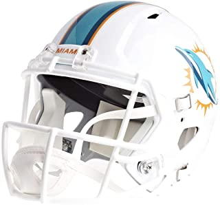 Riddell NFL Miami Dolphins Replica Full Size Speed Helmet, Team Colors, One Size