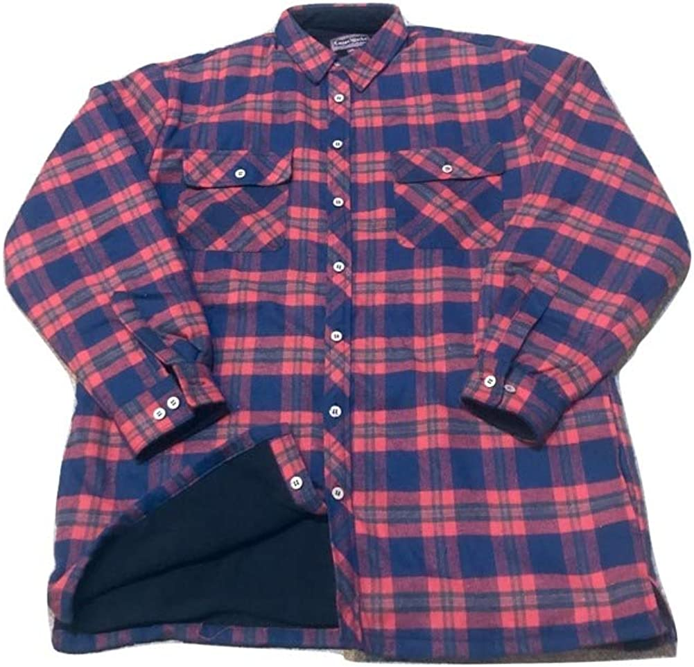 Big and Tall Ultra Warm Fleece Lined Beefy Shirt Jacket Red Navy Green Plaid to 6X Big and 5X Tall