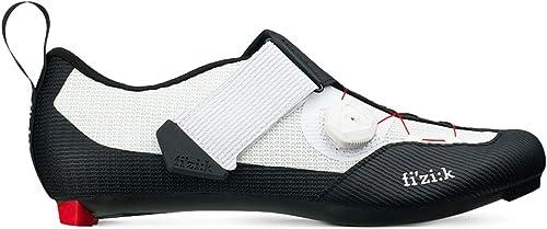 Fizik , Chaussures de Cyclisme pour Homme Noir Blanc Blanc