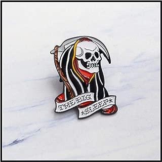 Punk Skeleton Enamel pin Heart Purple Hood Ramen Monster brooches Grim Reaper Lapel pins Badges Cool People Gift Custom