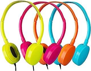 حزمة سماعات رأس مدرسية من 4 قطع للصف الدراسي -YMJ(Y4 ألوان مختلطة) سماعات أذن للأطفال والطلاب والمكتبات والمختبرات (مزيج)