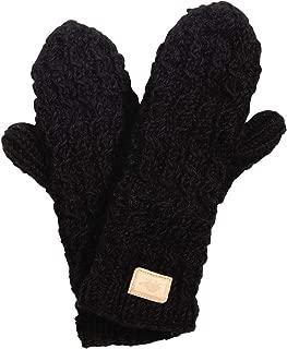 Nepal Mika Hand Knit Fleece Lined Wool Mittens