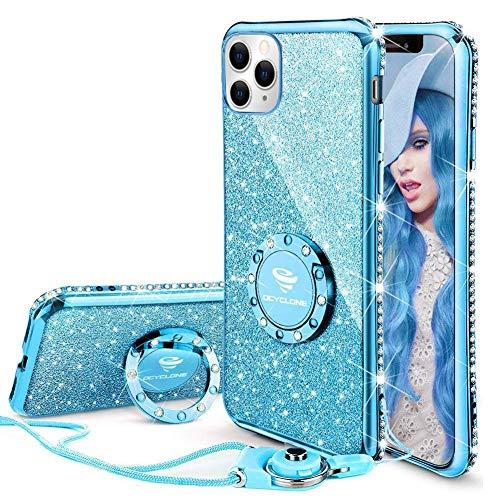 OCYCLONE iPhone 11 Pro Case, Cute Glitter Bling Diamond Rhinestone Bumper with...
