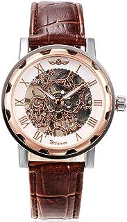 ساعة للرجال ميكانيكية أنيقة هيكل عظمي مجوفة