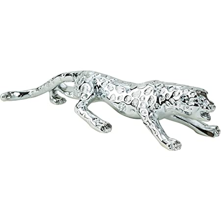 Casa Padrino Designer Gepard aus Polyresin antik-silber Leopard Skulptur Figur