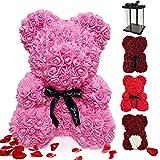 ASANMU Orso di Rosa Regalo, Orsacchiotto Composto da Rose Artificiali, Orsacchiotto Rosa su Ogni...