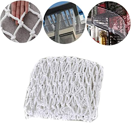 HWJ Construction Safety Net Children s Stairs Protective Net Shatter-resistant Mesh Wall Decoration Net Anti-cat Net Railing Fence Net White 100x100mm Net 6mm Rope  Size 1x7m 3 28x 22 96ft