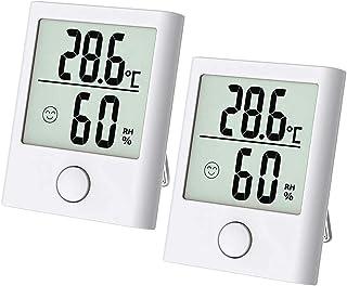 ABsuper Mini Thermomètre Hygromètre Intérieur Numérique à Haute Précision, Moniteur d'Humidité & deTempérature Portable, T...