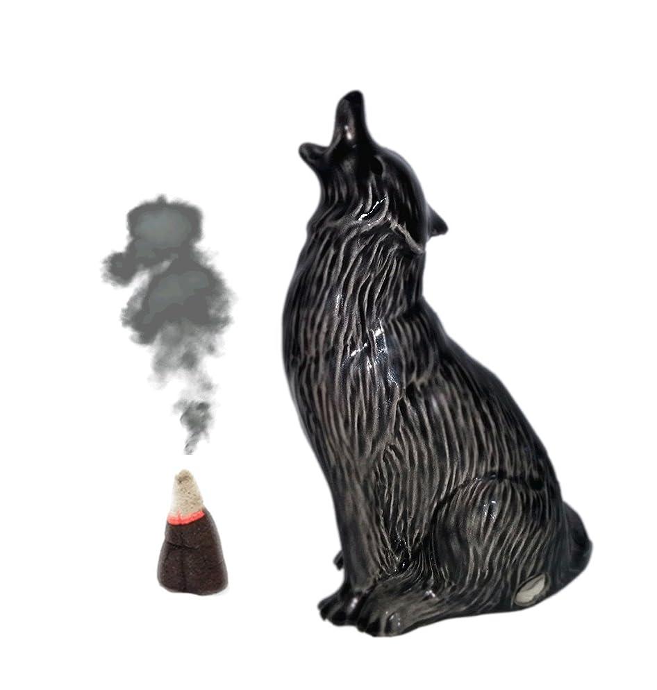 コンクリート来てに対処するHowling Wolf Cone Incense Burner S ブラック