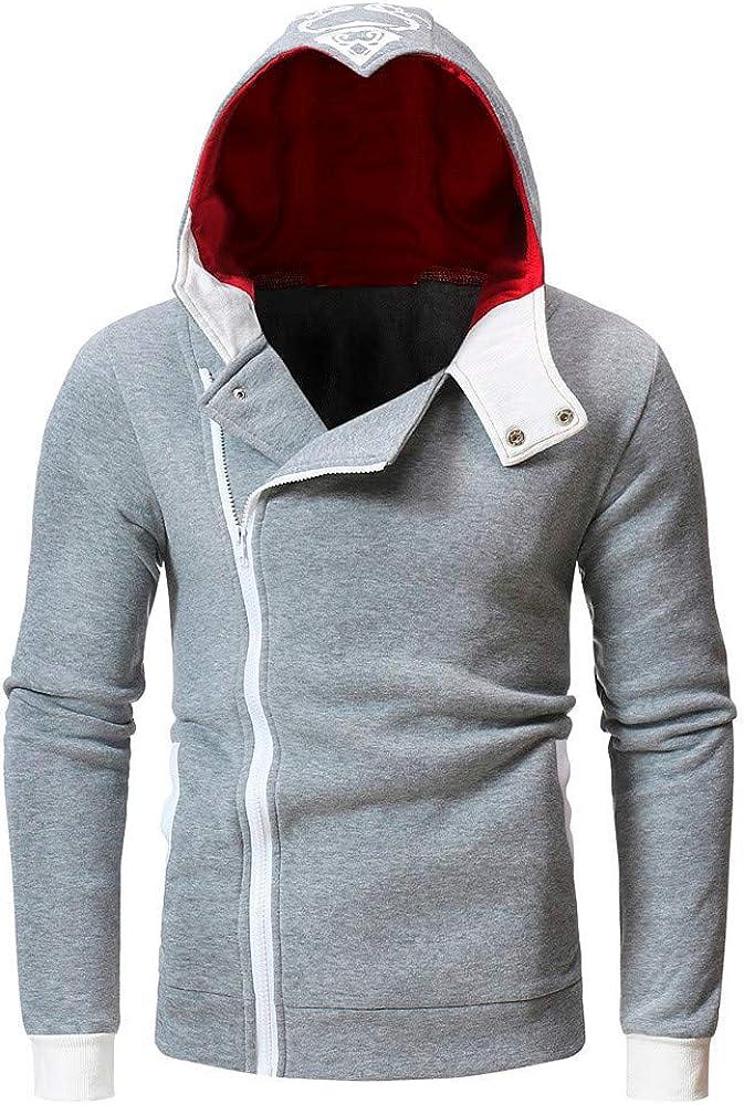 Mens Autumn Hoodies Zipper Lightweight Slim Casual Long Sleeve Solid Hooded Pullover Sweatshirts Outwear Jacket Coats