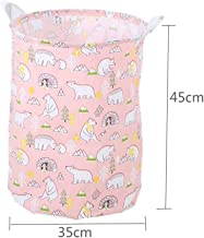Folding Laundry Basket Cartoon Storage Barrel Standing Toy Clothing Storage Bucket Laundry Organizer Holder Pouch For Kids Gift (Color : Brown)