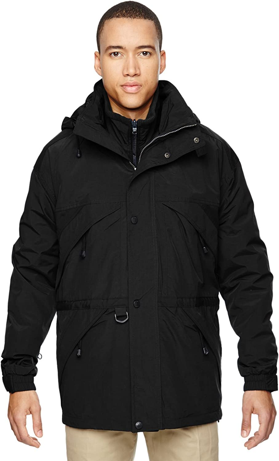 North End All items free OFFer shipping Men's 3-in-1 with Trim Dobby Parka