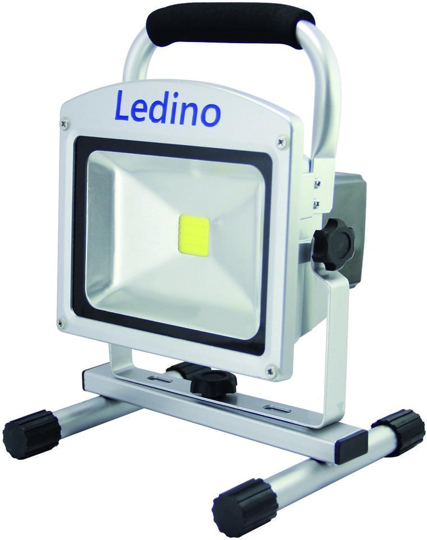 Ledino LED Auenstrahler Ledino LED-Akkustrahler 20W Li-Ion Akku 88Ah dimm  LED-FLAH2009D