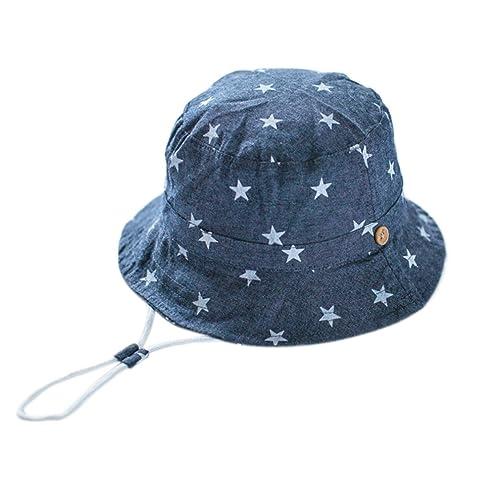 a150bc1a4b70 EOZY Chapeau de Soleil Plage Anti-UV Solaire pour Bébé Enfant Outdoor Coton
