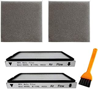 VideoPUP 2 Pack Exhaust HEPA Filters with Foam Filters, HEPA Media Filter Compatible with Kenmore EF-1 Compares to Model 8...
