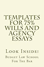 Templates For 75% Wills and Agency Essays: Look Inside!