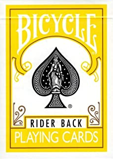1 Deck of Bicycle Yellow Rider Back Playing Cards (Yellow) Standard Edition Deck