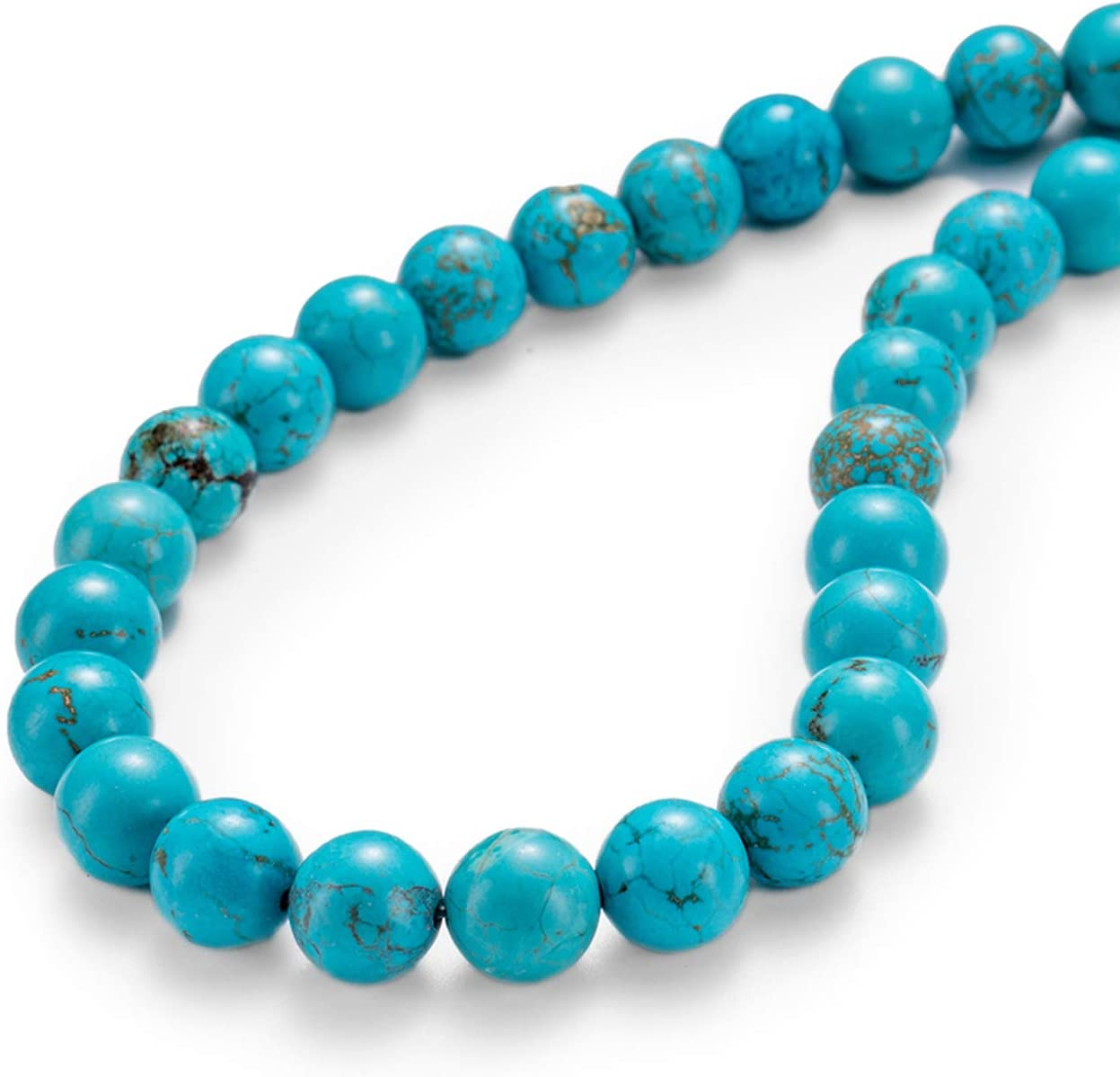 Turquoise Smooth Round Beaded Bracelet Natural Turquoise Gemstone Beaded Bracelet 7mm Turquoise Beaded Jewelry-8 Inch Turquoise Jewelry