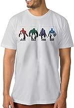 Custom Men's Tshirt Iron Giant Thunder Union SkyBlue