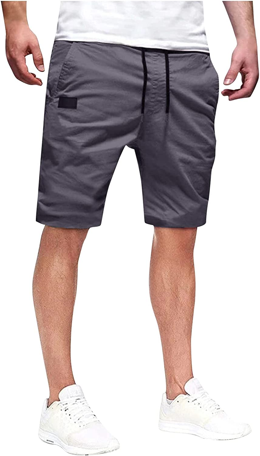Outdoor Tactical Shorts for Men Summer Casual Lace Up Cargo Shorts Solid Color Quick Dry Sports Short Pants - Limsea