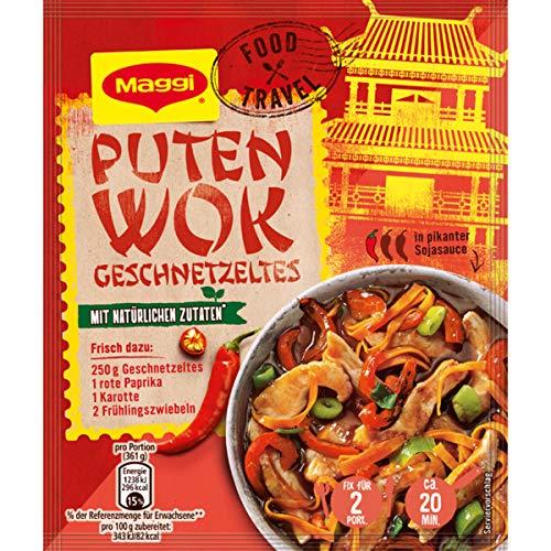 Maggi Food Travel Fix für Puten Wok Geschnetzeltes Asia Pfanne 37g