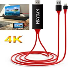 PINYUAN Compatible with iPhone iPad to HDMI Adapter Cable, 1080P Digital AV HDMI Adaptor..