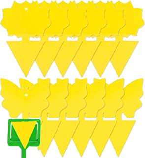 Home-Mart 12 pcs Sticky Trap,Fruit Fly and Gnat Trap Yellow Sticky Bug Traps for Indoor/Outdoor Use - Insect Catcher for W...