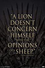 Pyramid America Game of Thrones Tywin Lannister A Lion Quote Poster 12x18 Inch 12x18 inches Multi 393838