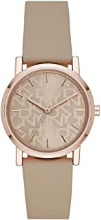 DKNY Soho Women's Beige Dial PU Leather Analog Watch - NY2856