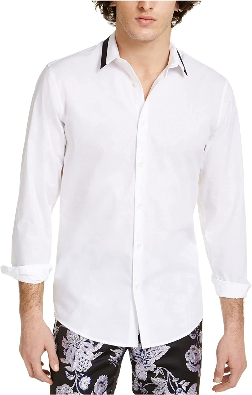 I.N.C. International Concepts INC Mens White Point Collar Cotton Dress Shirt XXL 18/18.5