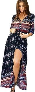 Summer Dress for Women Maxi Dress Sundress Bohemian Tunic Floral Party Beach Long