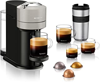 Krups Vertuo Next gris clairMachine expresso, NespressoMachine à café5 tailles de tasses1,1L,Café filtre Espresso Caf...