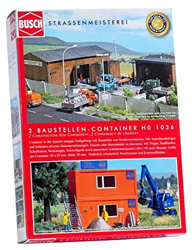 Busch 1036 - Zwei Baustellen-Container, Fahrzeug