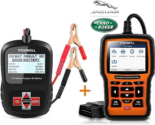 popular FOXWELL popular Car Battery Tester Analyzer BT100 Pro with OBD2 Scanner for Landrover & Jaguar Full System Diagnostic Scan high quality Tool outlet sale