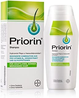 PRIORIN Shampoo Hair Growth Formula - Weak & Thinning Hair - 200mL (Made Germany/