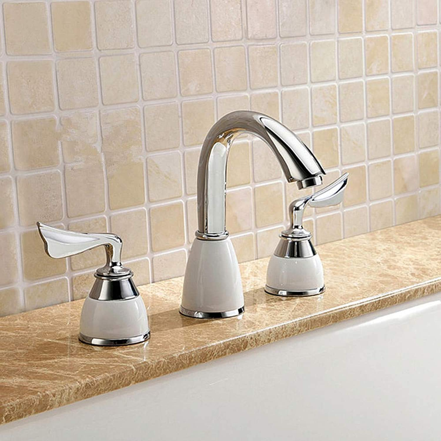 Bathroom Sink Tap High Quality Original Unique Design Brass Chrome 3 Hole Bathtub Faucet Bath Shower Mixer Taps Bathroom Faucet