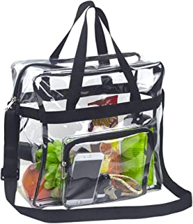 Magicbags Clear Tote Bag Stadium Approved,Adjustable Shoulder Strap and Zippered Top,Stadium Security Travel & Gym Clear Bag, Perfect for Work, School, Sports Games and Concerts-12 x12 x6