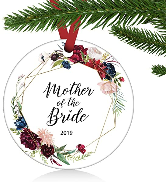 ZUNON Mother Of The Bride Ornament Gift Christmas Floral Rustic Rose Gift To Mother In Law Mob Mother Gift Wedding Mother Home D Cor Wedding Decoration 3 Ornament Mother Of The Bride