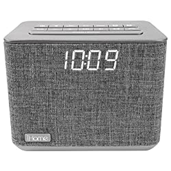 iHome iBT232 Bluetooth Dual Alarm FM Clock Radio with Speakerphone and USB Charging OPEN BOX