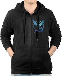 DAMAIW Men's Galaxy Team Mystic Logo Pogo-01 Zip-Up Hoodie Sweatshirt